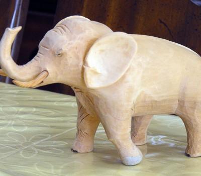 photo of carved elephant